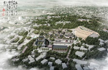 榆林古城梅花楼历史街区景观设计